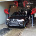 A Raleigh BMW Getting a Car Wash