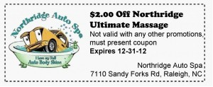 Ultimate Massage Car Wash Coupon