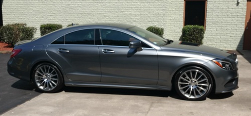 mercedes car with window tint done at Northridge Auto Spa Raleigh