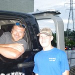 Peter Merritt and Bobby Lizard lick