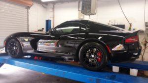 Northridge Auto Spa car getting an oil change